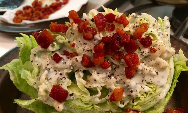Slim Man Cooks a Wedgie Salad with Roquefort Dressing