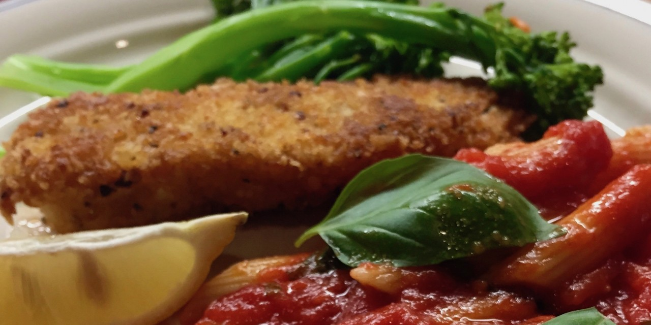 Slim Man Cooks Macadamia and Panko Crusted Halibut