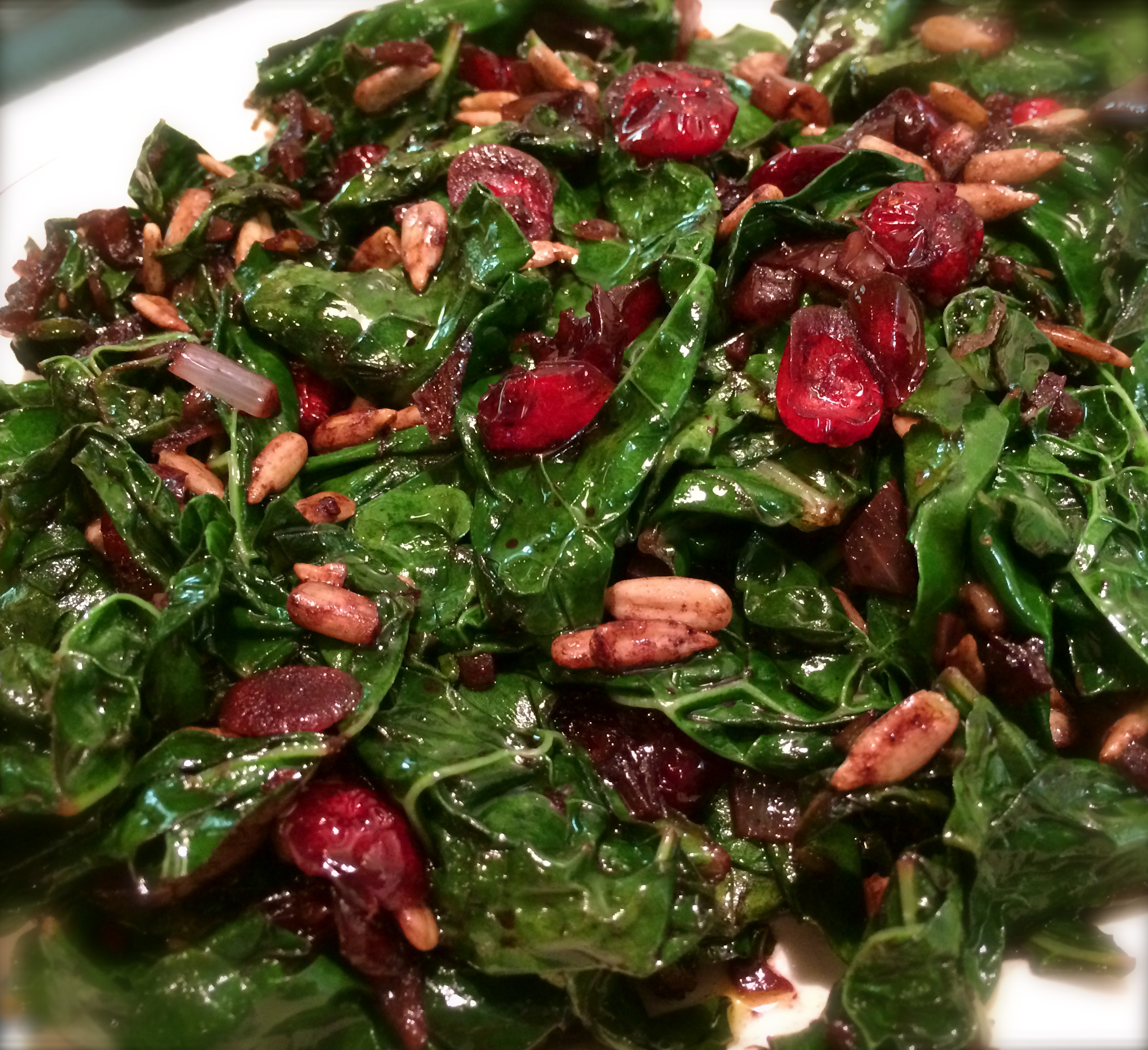 Slim Man Cooks Italian (Lacinato) Kale with Shallots, Port and Cranberries