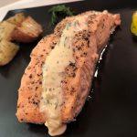 Slim Man Cooks Poached Salmon