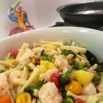 Slim Man Cooks Shrimp with Broccoli and Grape Tomatoes