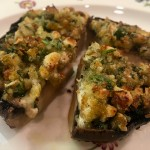 Slim Man Cooks Portobello Caps with Gorgonzola and Walnuts