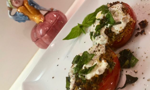 Slim Man Cooks Baked Tomatoes Caprese