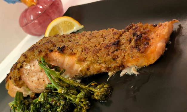 Slim Man Cooks Baked Salmon with Pistachio Crust