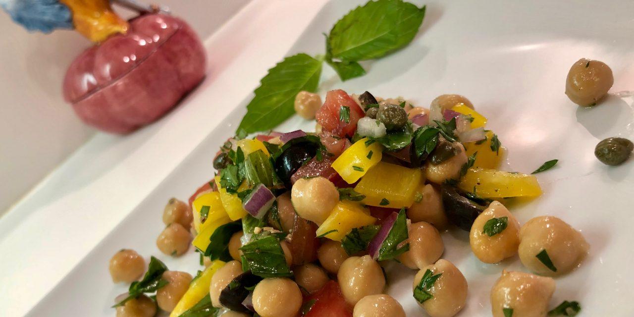 Slim Man Cooks Chick Pea Salad